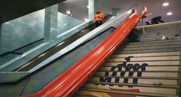 Playground Slide Escalators