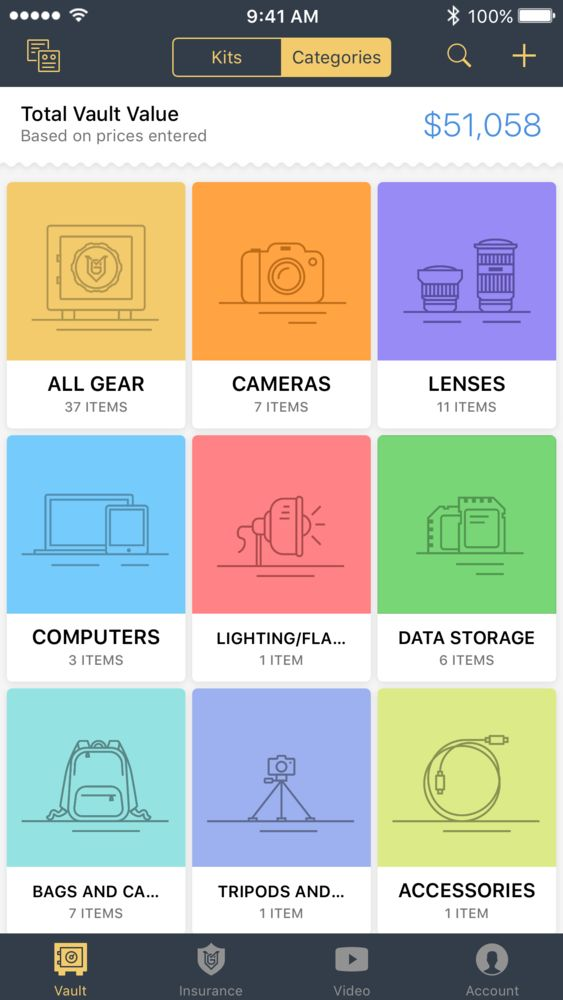 Photography Gear-Organizing Apps