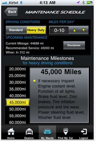 Automotive Maintenance Reminder Apps