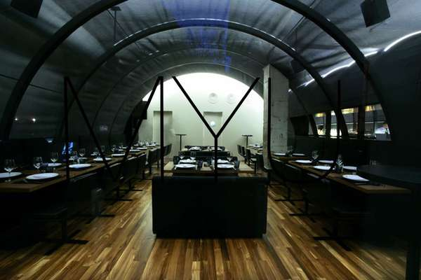 Vaulted Fabric Rooms