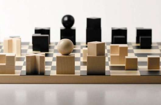 Minimalist logic games naef bauhaus chess set - Bauhaus chess board ...