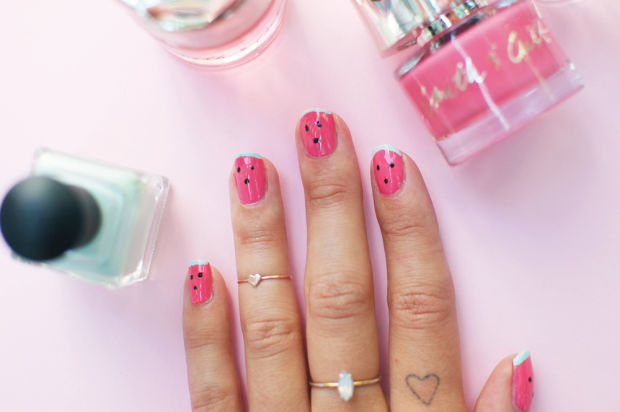 Whimsical Watermelon Manicures
