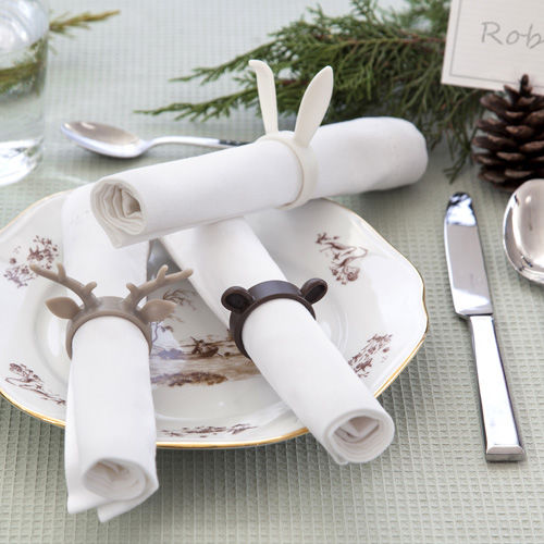 Stag Napkin Rings Copyright