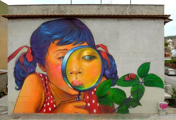 Whimsical Street Art Natalia Rak