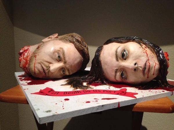 Gory Decapitated Wedding Cakes