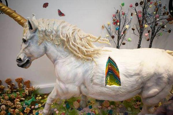 Unicorn Rainbow Layer Cakes