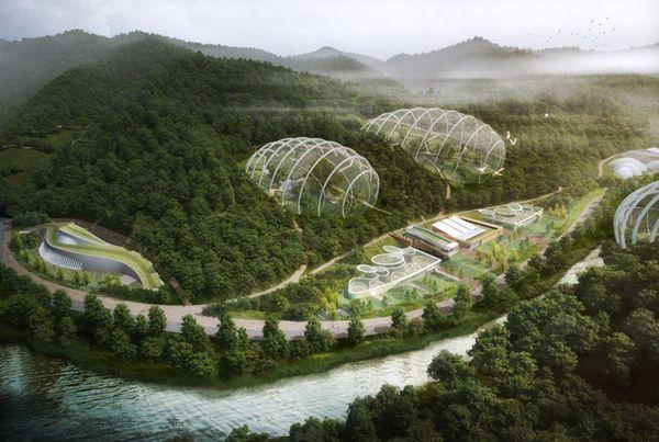 Giant Glass Biodomes