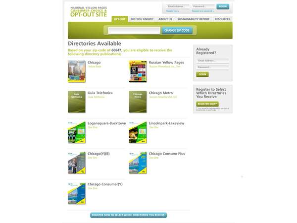 National Yellow Pages Opt-Out Site