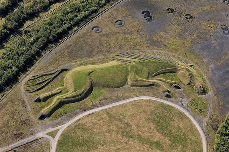 Grassy Horse Sculptures