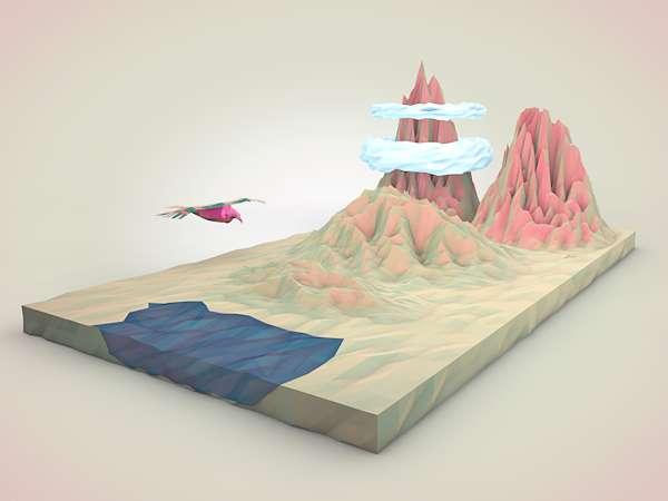 Childhood-Inspired Digital Art