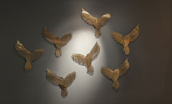 Acid-Etched Metal Installations