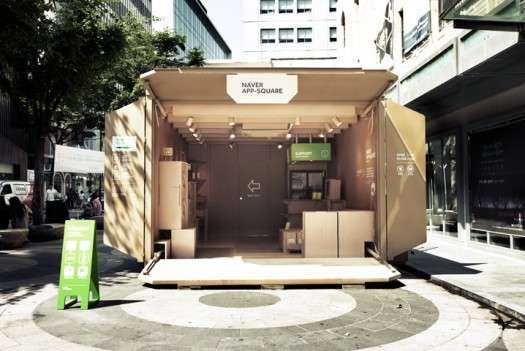 Cardboard Box Pop-Up Shops