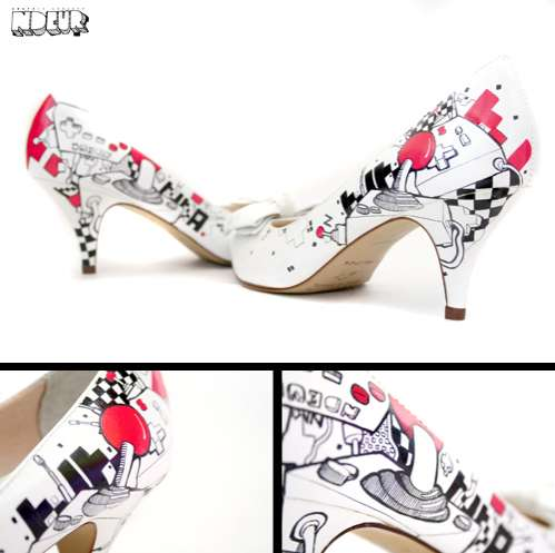 Colorful Graffiti Shoes