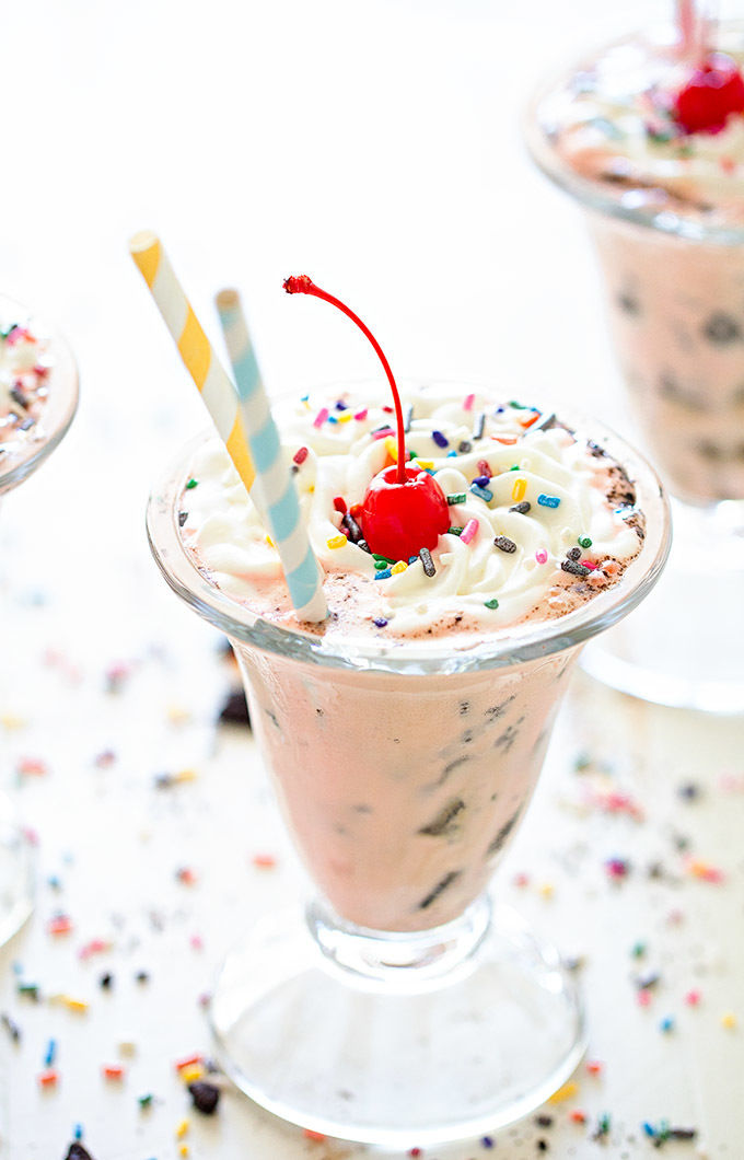 Creamy Tricolor Milkshakes