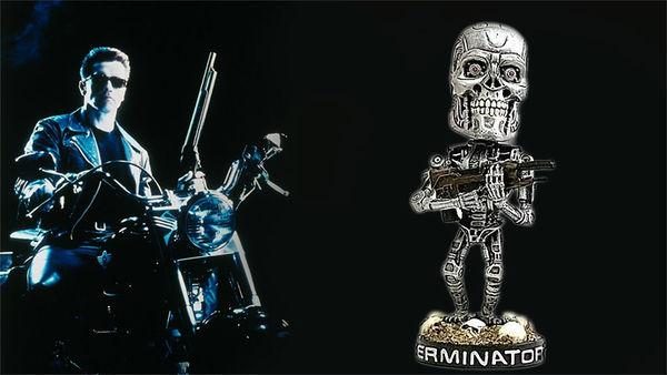 Retro Cyborg Figurines