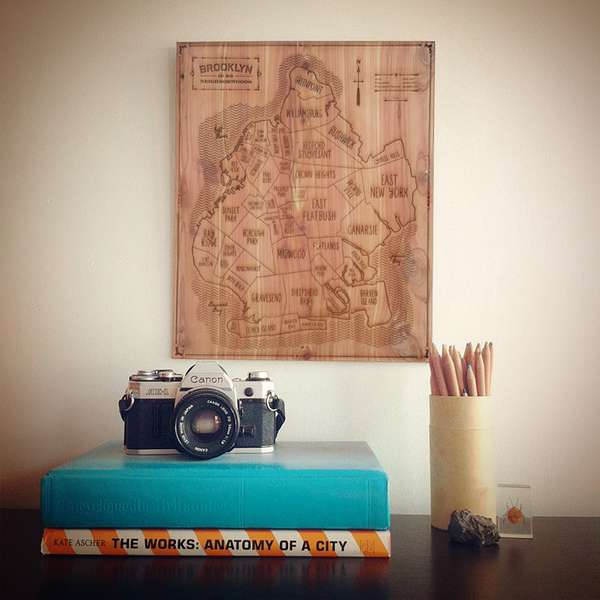 Witty Wooden Maps