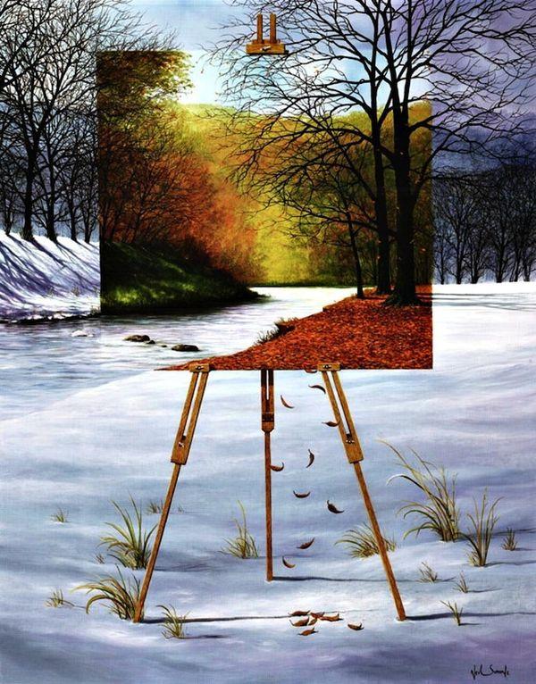 Perspective-Shifting Landscape Art