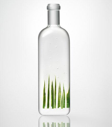 Rain-Inspired Glass Bottles