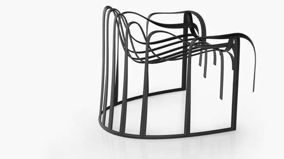 nendo leather chair