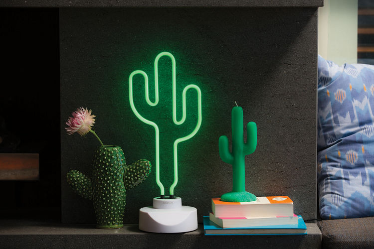 Neon Cactus Lamps