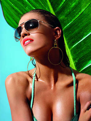 Steamy Neon Swimwear Editorials