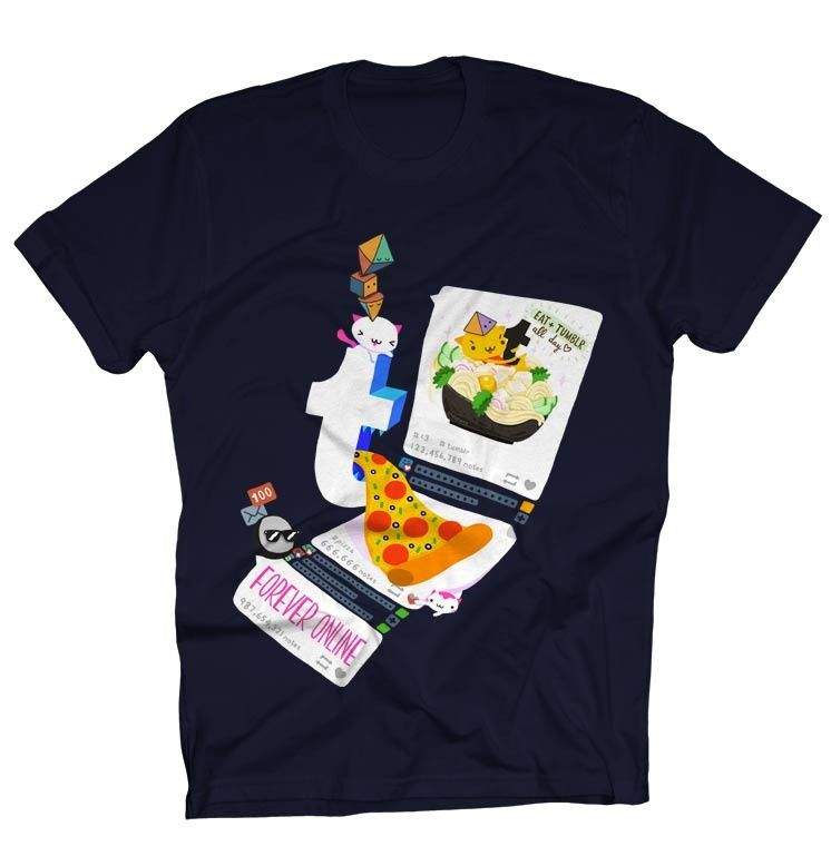 Artistic Internet-Supporting Tees