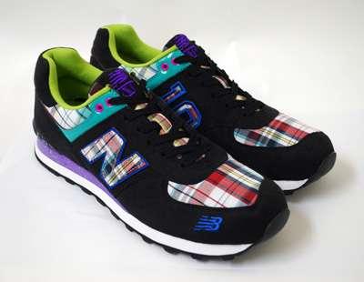 Neon Plaid Kicks