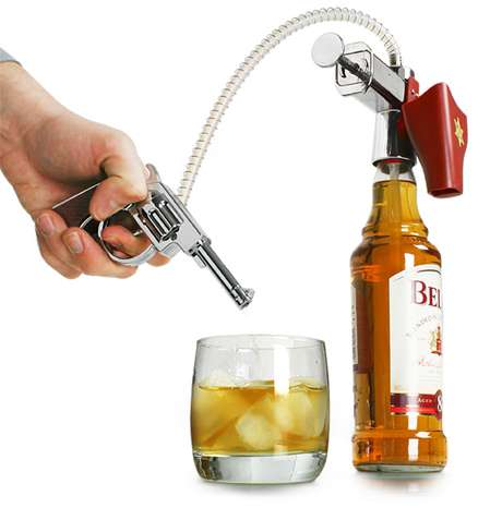 Pistol-Shaped Shot Pourers
