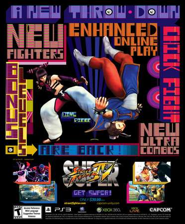 new Super Street Fighter IV ad campaign