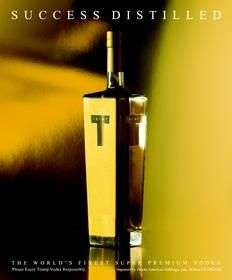 24K Gold Vodka Bottle