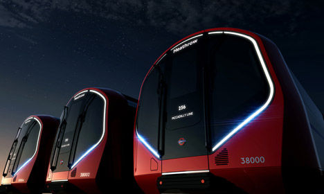 Futuristic Driverless Trains