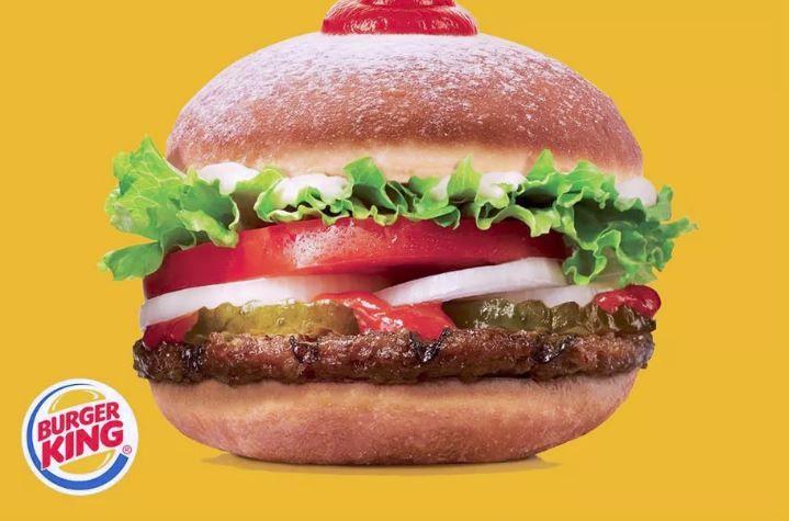 Ketchup-Filled Donut Burgers
