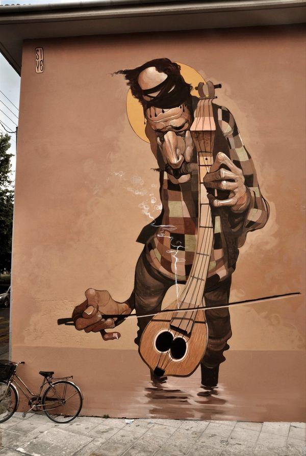 Warped Street Art Portraiture