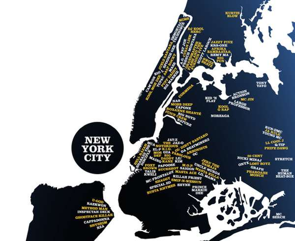 Hip Hop Hometown Maps