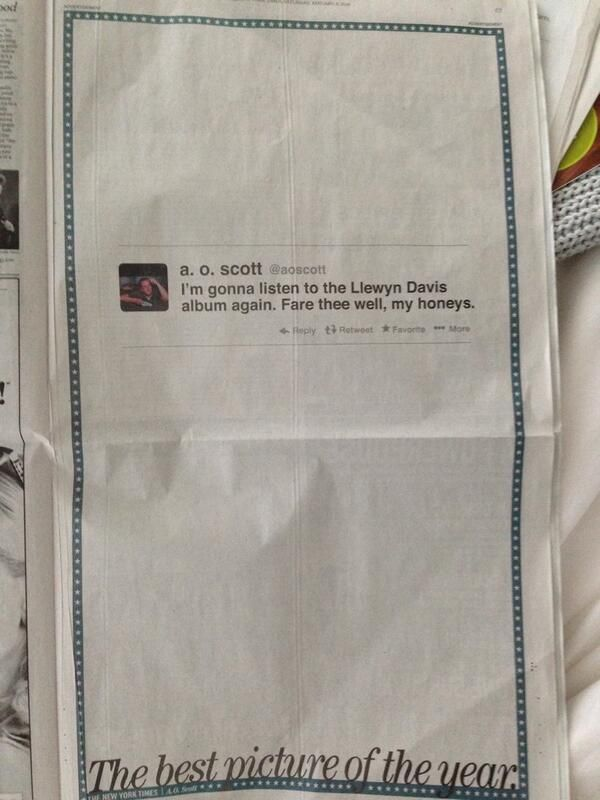 Printed Tweet Newspaper Ads