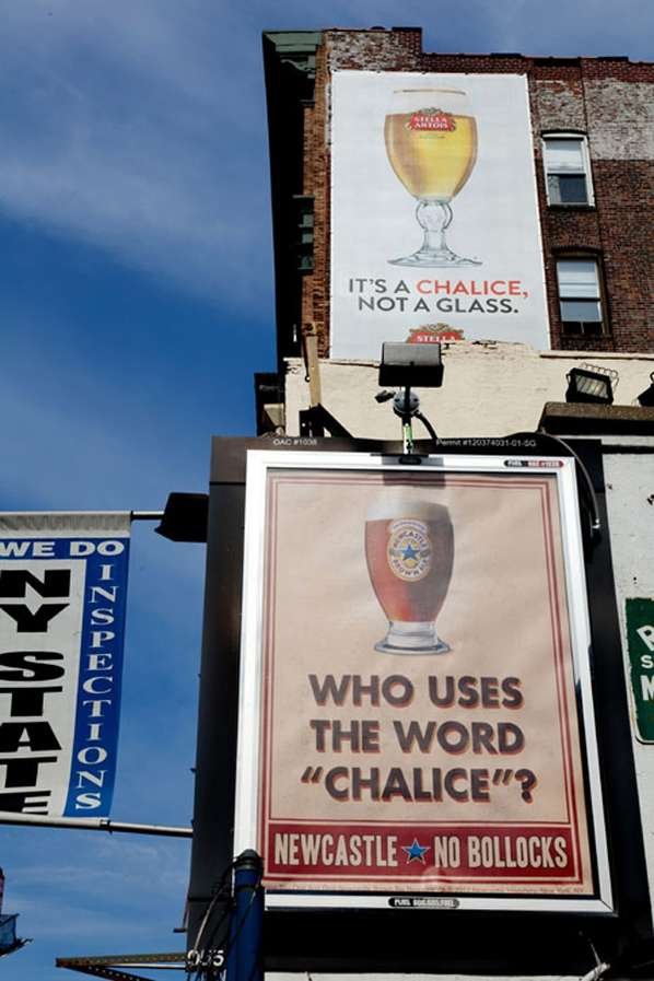 newcastle beer mocks stella artois
