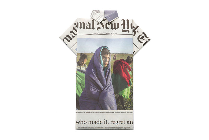 Newspaper-Embedded T-Shirts