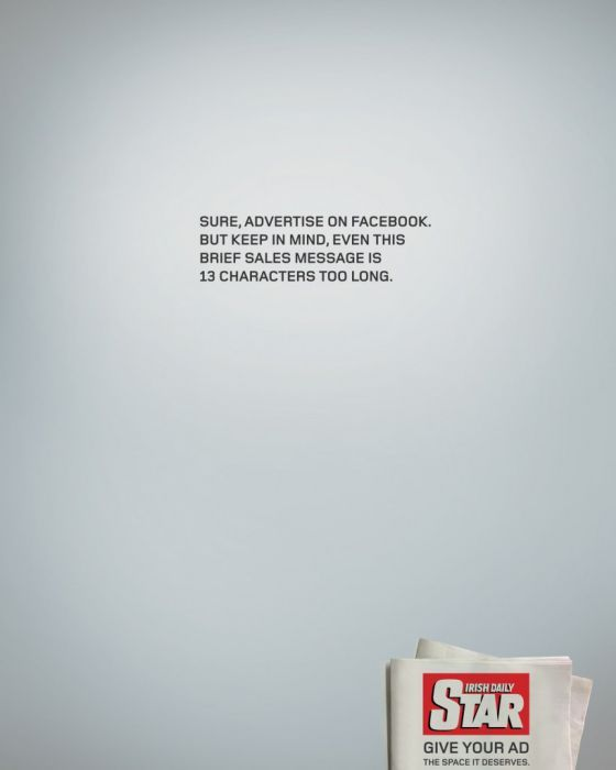 Snarky Newspaper Print Ads