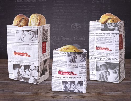 newspaper bread packaging   newspaper packaging
