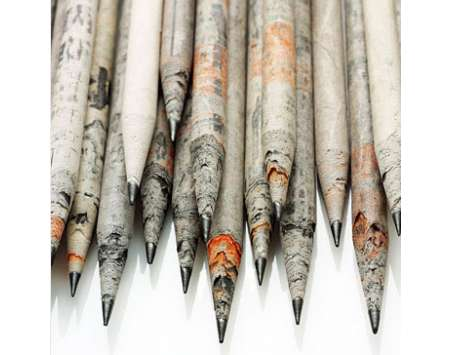 Newspaper Pencils