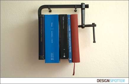 Vice Clamp Bookshelves