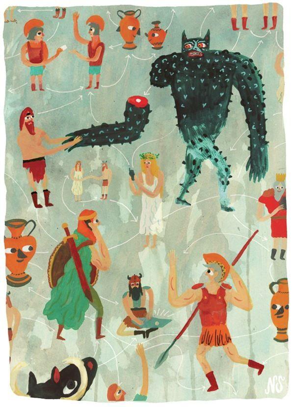 Eccentric Wiccan Illustrations Nicholas Stevensons