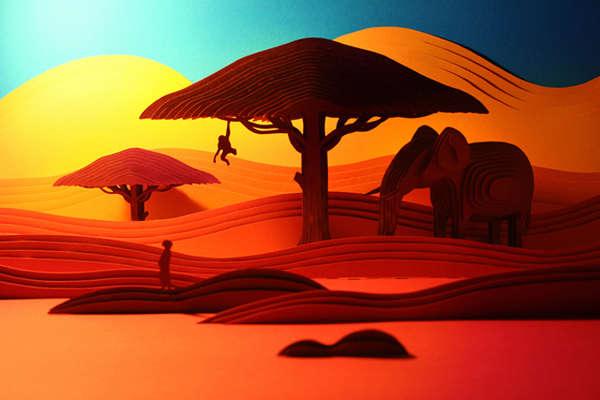 3D Layered African Artwork