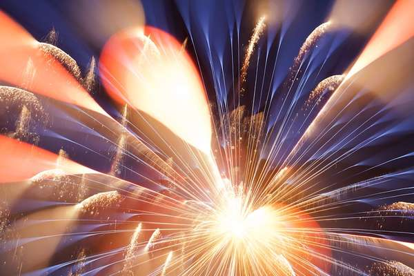 Abstract Firework Photography