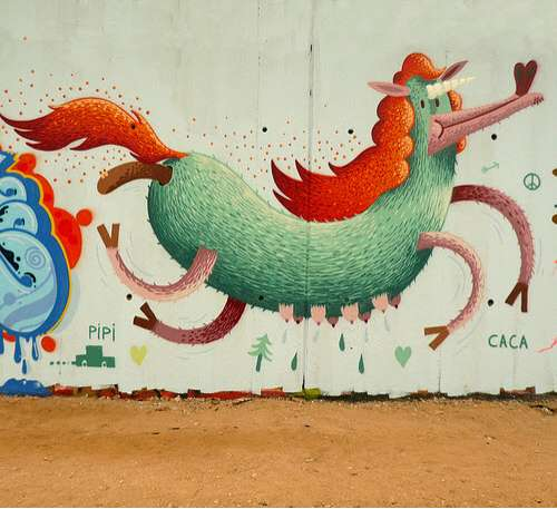 Child-Like Cartoon Graffiti