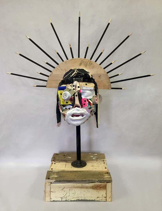 Trash-Made Head Sculptures
