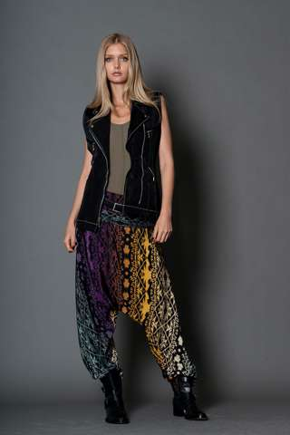 Tribal-Printed Hammer Pants