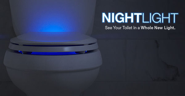 Illuminated Retina-Saving Toilets