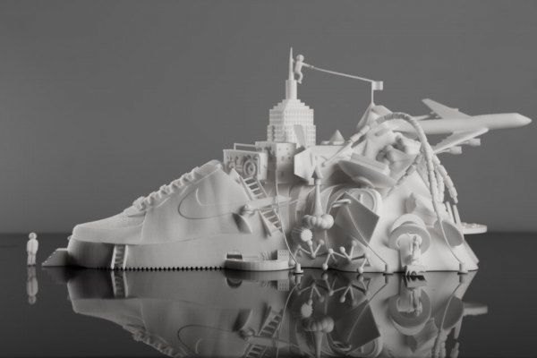 3D-Printed Shoe Sculptures