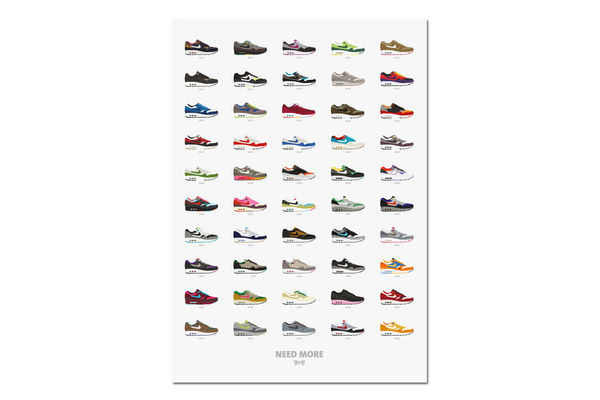 Illustrated Sneaker History Posters